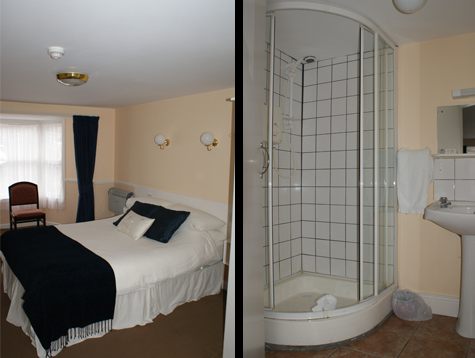 a double bedroom and ensuite bathroom/shower